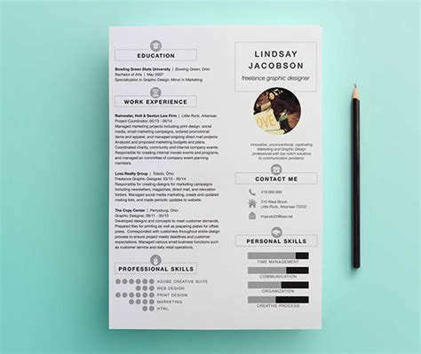 Graphic Design Resume Template by Graphic Designer Resume Template On Behance