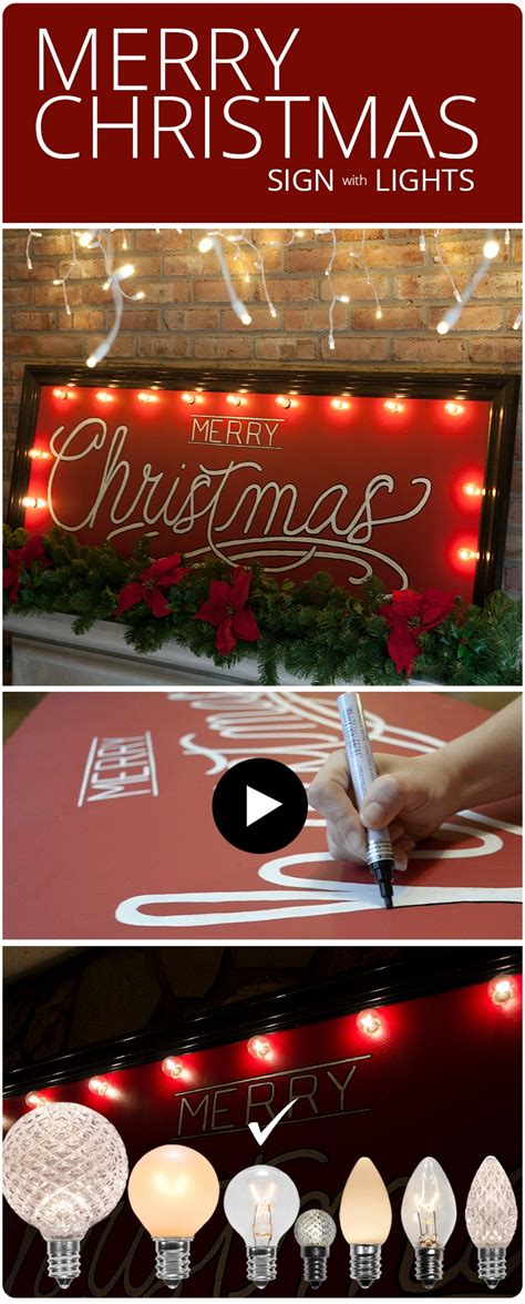 diy merry christmas sign  marquee lights