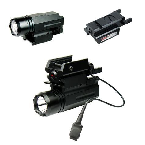 laser light gun compact pistol led flashlight with low profile laser