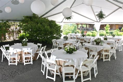 Tent Table & Chairs For Weddings
