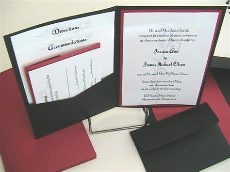 pocket wedding invitations pocket wedding invitations