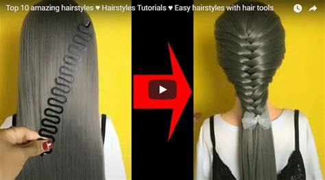 easy hairstyles  hair tools simple craft ideas