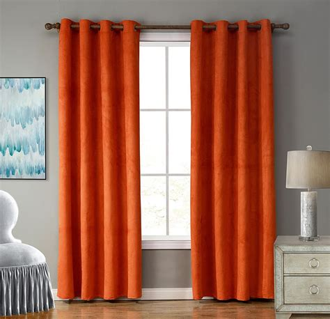 tips  cleaning orange curtains  living room designs