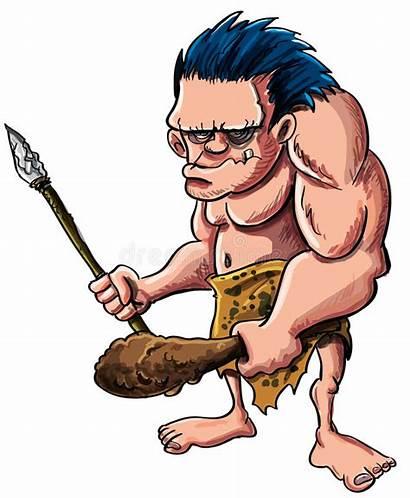 Caveman Cartoon Troglodyte Brand Anton Illustration Cave