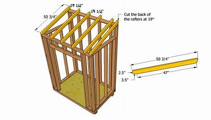 Lean Shed Roof Plans Rafters Installing Pitch