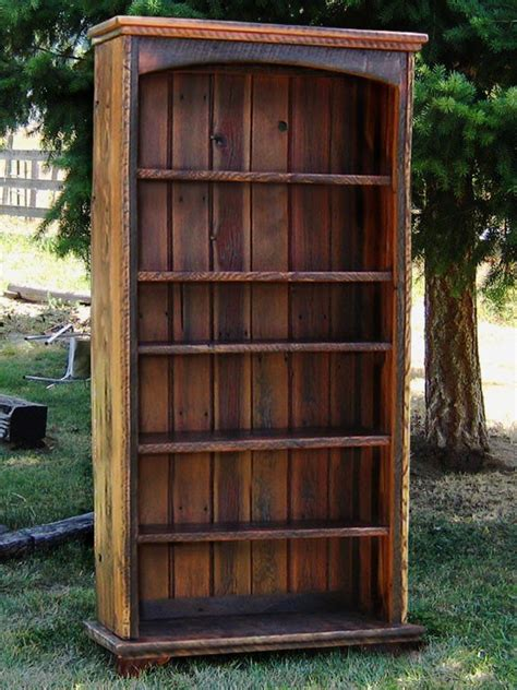 country roads reclaimed wood bookcase  idaho wood shop