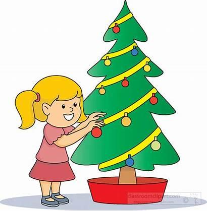 Tree Christmas Decorating Clipart Classroom Medium Transparent