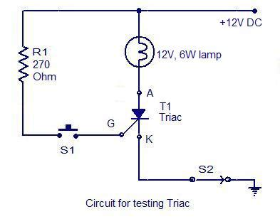 How Test Scr Electronic Circuits Diagrams