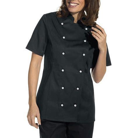 veste de cuisine manche courte veste de cuisine femme manches courtes cintrée poche sur