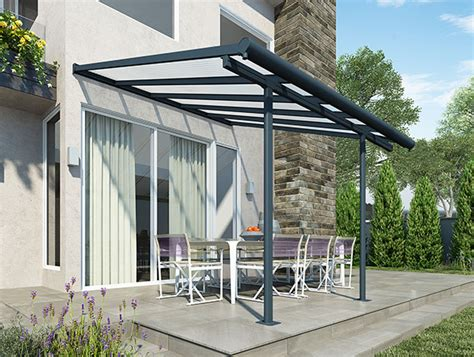 palram sierra patio cover 3m x 3 05m grey from keen