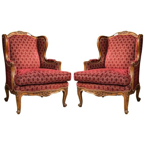 pair of louis xv style bergere chairs for sale at
