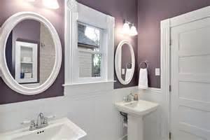 Purple and White Bathroom