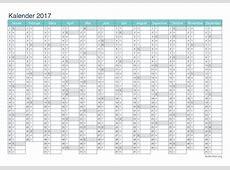 Kalender 2017 zum Ausdrucken iKalenderorg