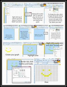 How To Create A Crochet Graph Using Excel  Detailed