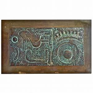 large copper and bronze wall sculpture at 1stdibs With bronze wall art