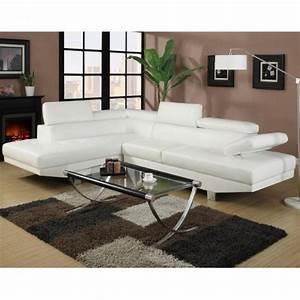Canapé D Angle Cuir Blanc : photos canap d 39 angle cuir blanc pas cher ~ Melissatoandfro.com Idées de Décoration