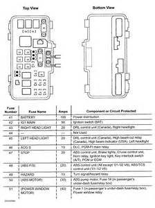 similiar honda odyssey abs fuse keywords 2004 honda odyssey fuse diagram moreover honda pilot fuse box diagram