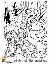 Coloring Caribbean Pirates Pages Pirate Print Jack Printable Sparrow Yescoloring Cartoon Boys Fight sketch template