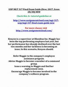 Uop Mgt 317 Final Exam Guide