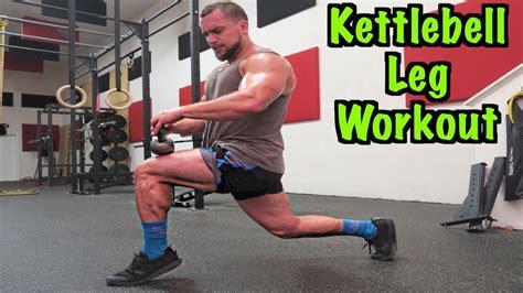 leg kettlebell workout intense minute