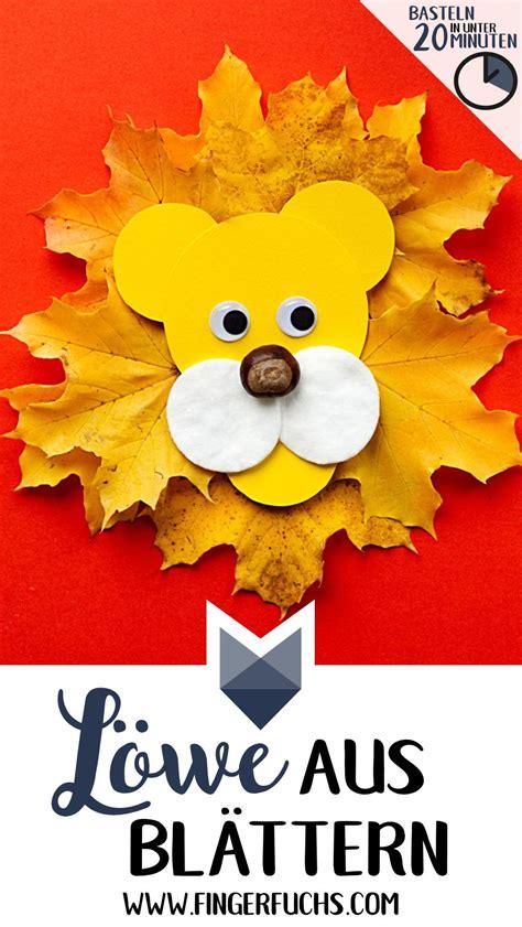 Herbstdeko Basteln Herbstliche Lions by Herbstlicher L 246 We Mit Bl 228 Ttern Basteln Basteln In Unter