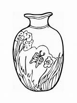 Vase Coloring Pages Printable Vaza Colors Recommended sketch template