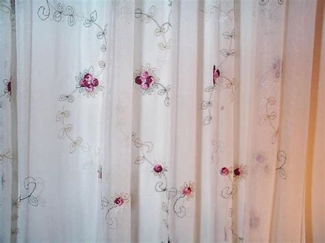 curtain embroidered panel voile curtain design