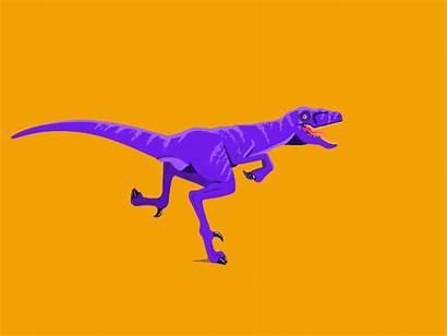 Cycle Raptor Run Dinosaur Dribbble Running Walk