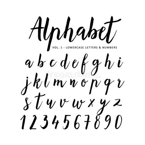 brush lettering alphabet alphabet script font brush font stock vector 22082
