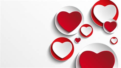 Minimalistic Hearts Shapes Wallpaper
