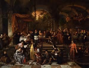 wedding at cana wedding feast at cana c 1670 1672 jan steen wikiart org