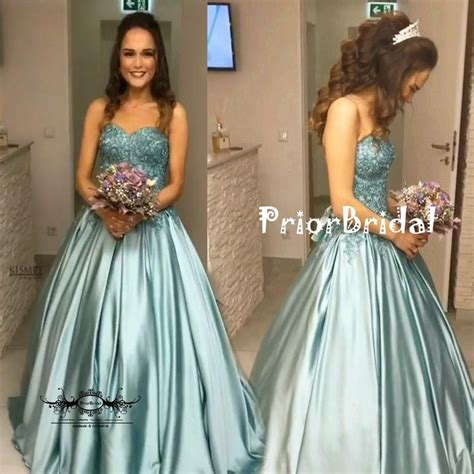 Tiffany Blue Lace Beaded Top Sweetheart Strapless Ball ...
