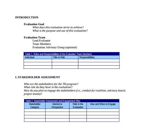 sample evaluation plan   documents