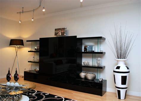 meuble cuisine rangement meuble tv verre ébène