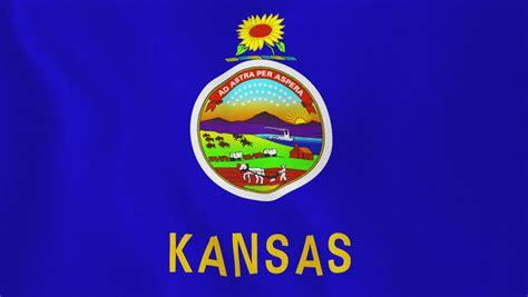 Kansas State Flag Waving