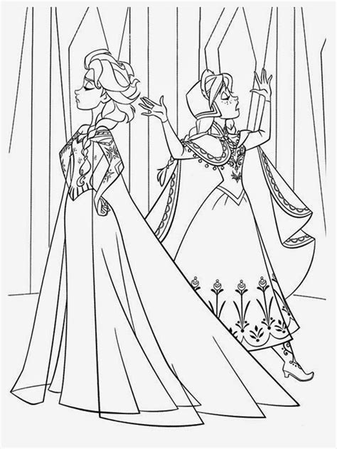 frozen coloring pages elsa  anna coloring pages images