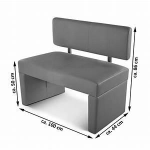 Ikea Sitzbank Mit Lehne : sam esszimmerbank 100 cm wei recyceltes leder selena ~ A.2002-acura-tl-radio.info Haus und Dekorationen