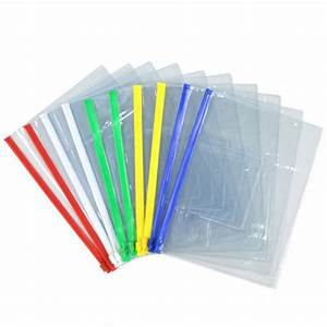 Aliexpresscom buy file bag stationery 20pcs clear for Clear plastic document folder