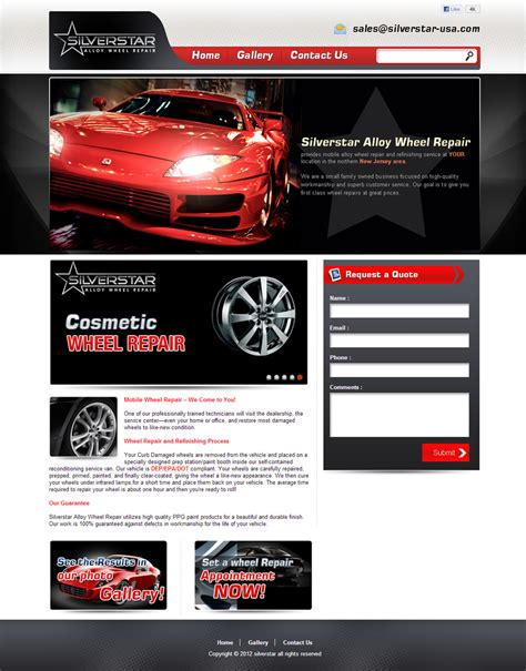 Automobile Website Design by Auto Website Design Automobile Repair Dealership And