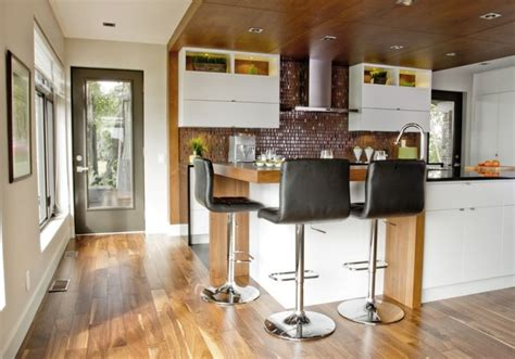 cuisine et comptoir avignon îlot et armoires de cuisine en mdf laqué retombée et