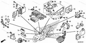 Honda Motorcycle 2012 Oem Parts Diagram For Control Unit