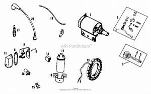 Simplicity 1600044 - 310  10hp Gear Parts Diagram For Engine Electrical Group