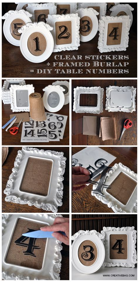 Diy Wedding Project Rustic Vintage Table Numbers