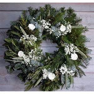 christmas holiday winter wreath fresh white christmas wreath