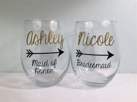 personalized stemless wine glasses for bridesmaids personalized bridesmaid wine glass bridesmaid