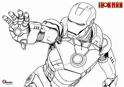 Iron Marvel Coloring Comics Cartoon Bubakids Printable
