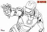 Iron Marvel Coloring Comics Printable Bubakids Cartoon Drawing sketch template