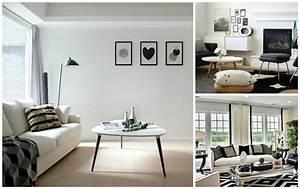 Deco Noir Et Blanc : d co noir et blanc pour salon en 50 id es inspirantes ~ Melissatoandfro.com Idées de Décoration
