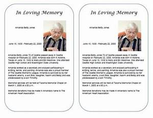 free obituary templates With funeral biography template