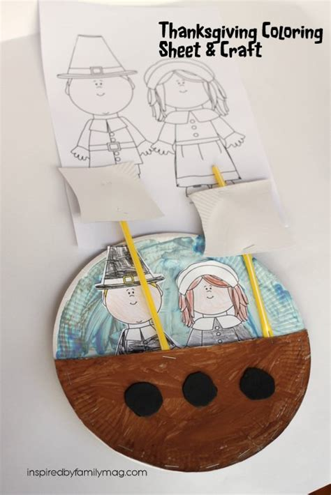thanksgiving coloring page and mayflower ship craft 426 | IMG 8702